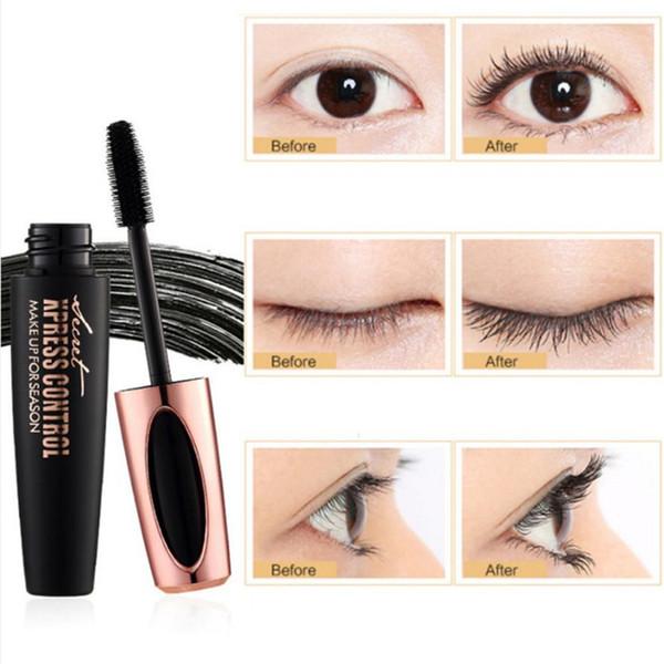 best selling 4D Silk Fiber Lash Mascara Waterproof Rimel 3d Mascara For Eyelash Extension Black EyeLashes Music flower