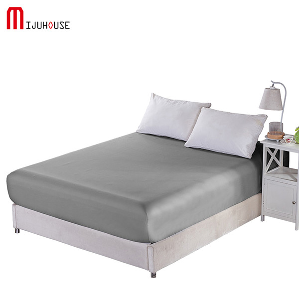 New 100%Polyester Cotton Fitted Sheet bed Character Sheets Mattress Cover Sheet Elastic Band Mattress Solid Plain Dyed Wholesale
