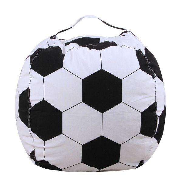 Kids Stuffed Animal Plush Football Toy Storage Bean Bag Soft Pouch Stripe Fabric 2018 Portable Kids Clothes Toy Storage Bags