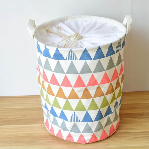 Linen Eco-Friendly Laundry Basket Large Storage Basket For Toys Clothes Sundries Storage Bag Organizer Washing Clothes Barrel