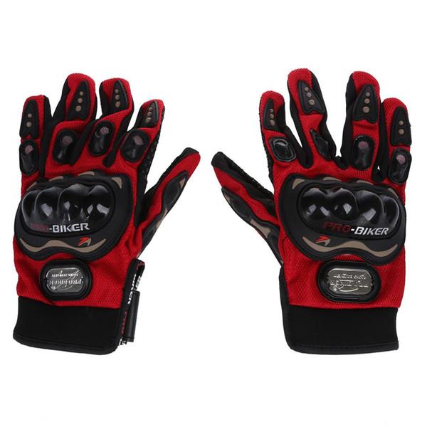 Guanti invernali termici impermeabili da uomo Guanti da moto completi con dita a forma di dito Idea per escursioni in bicicletta da sci Escursionismo in rosso