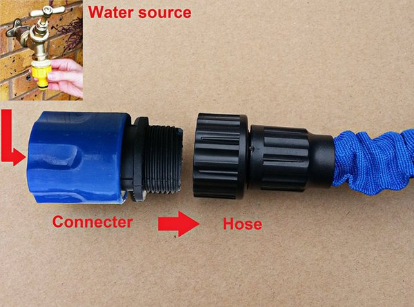 New Arrival Hose Adaptor Connector Garden Tool Tap Spray Stretch Quick Connect Fitting Garden Tools Spray Watering Suppliers