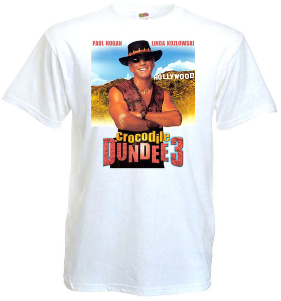 Crocodile Dundee part 3 v2 T-shirt white poster all sizes S...5XL hoodie hip hop size discout hot new tshirt