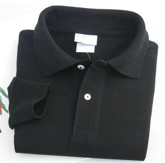 New Men Women Long Sleeve Shirts Turndown Collar Shirt Classic Brand Cotton Shirts White Black Navy Grey Pink Orange