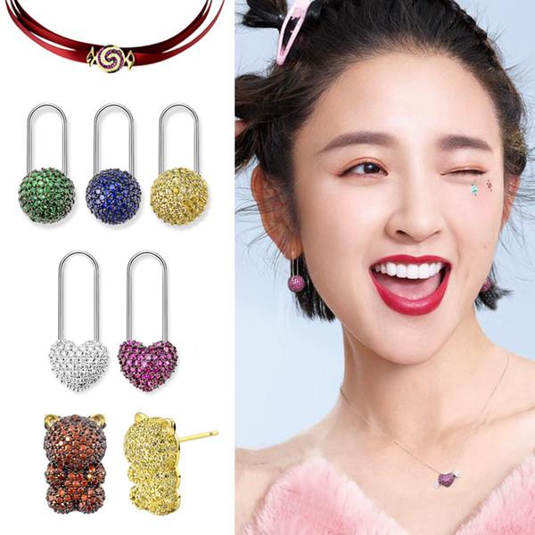 TYPE JEWELLRY Ours en peluche boucles d'oreilles fille fudge belle personnage de dessin animé mignon fondre tempérament de South Koreavariety de couleur