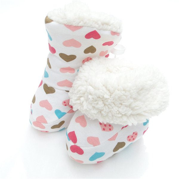 Sıcak Prewalker Çizmeler Toddler Bebek Kız Erkek Peluş Çizme Yumuşak Kar Beşik Ayakkabı Kış Bebek Patik 0 ila 12 Ay için