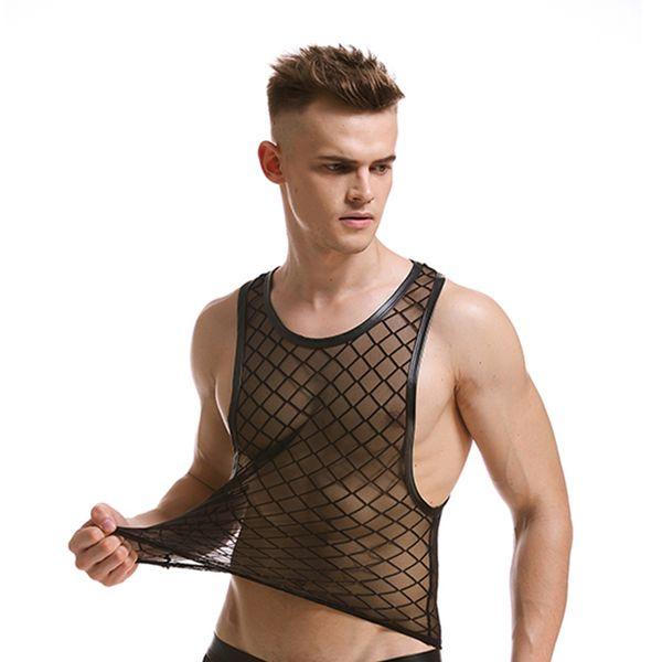 Hot Summer Men Checks Mesh Breathable Sport Tanks Running Jogging Fitness Shirt Quick Dry Sleeveless Vest For Male Man