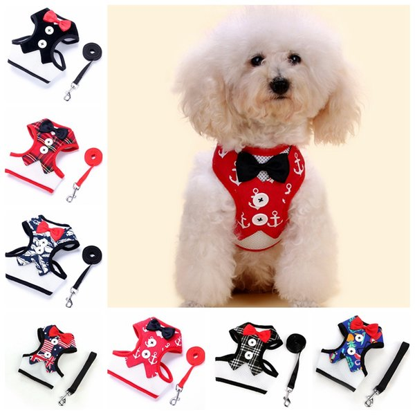 Pet Dog Vest Evening Dress Butterfly Bow Tie Chest Coat Strap With Metal Buckle Puppy Leashes GGA309 100PCS