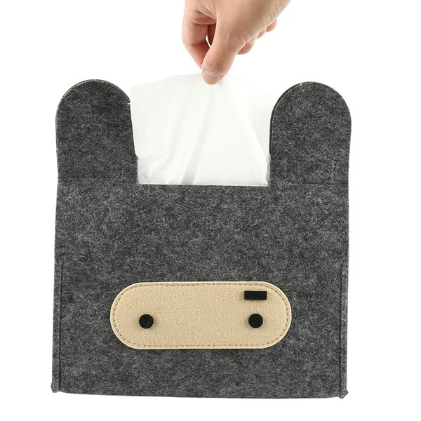 Hot Durable Tissue Box Home Hotel Auto Car Cartoon Felts Tissue Box Napkin Pumping Paper Case Cover Holder