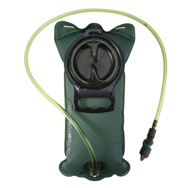 2L Green Water Bag Hydration Bicycle Mouth Water Bladder Outdoor Sport Running Camping Cycling Hiking Bags 38 * 18CM
