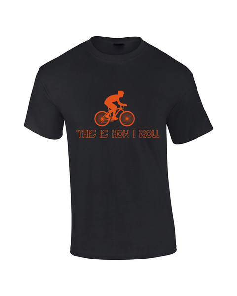 How I Roll Funny Cyclist Biker Bicycle Rider Mens T-Shirt Womens Tshirt