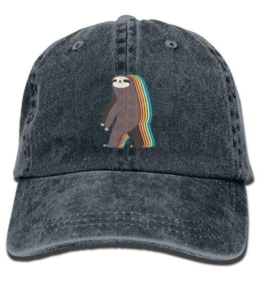 Hombres Mujeres Classic Denim Lazy Sloth Gorra de béisbol ajustable Dad Hat Low Profile Perfect For Outdoor