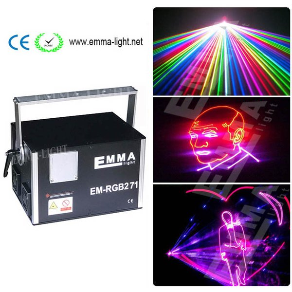 Indoor stage 5000mw ilda rgb laser disco 3d laser projector