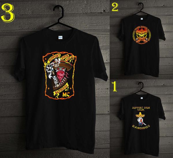 BANDIDOS MC Whyskey дизайн футболка черный