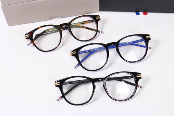 2017 thom TB813 Round frame glasses Fashion Vintage optical frame eyewear frames Brand oculos de grau eyeglasses with box