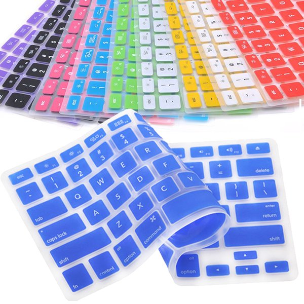9 Color Keyboard Skin Cover For Macbook Pro Air Mac Retina 13.3 Soft Keyboard Stickers Film labels for keyboard