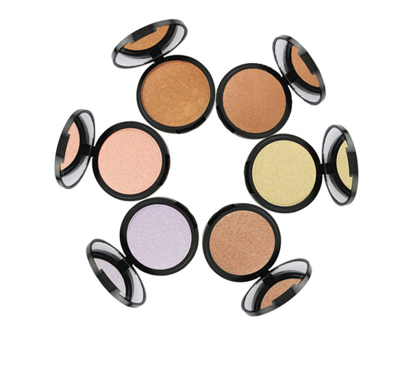 Best selling Long lasting Waterproof Makeup Cosmetics Face Pressed Powder Contour Concealer 6 color Shimmer Bronzer Highlighters Powder