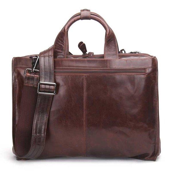 Meilleur nouveau sac à bandoulière pour hommes en cuir véritable documentaire d'affaires hommes Messenger créatif sac à bandoulière en cuir pour ordinateur portable