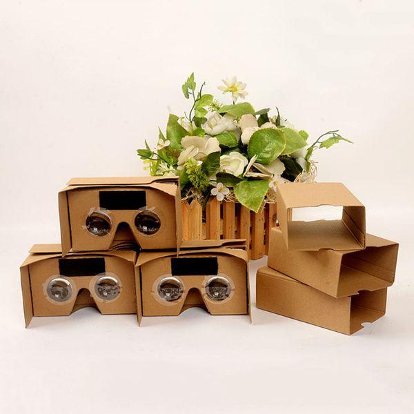 DIY Google VR Karton 2.0 V2 gözlük VR kağıt kutuları Sanal Gerçeklik 3D görüntüleme google II Iphone x için Gözlükler STY106