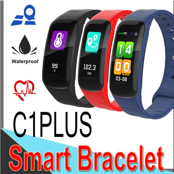 Смарт-браслет C1 Plus Bluetooth Smart Watch Монитор артериального давления Кислородный сердечный ритм Спортивный ремешок новый 0,96-дюймовый цветной большой экран EC1P