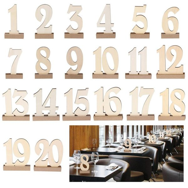 Acheter Cc 1 20 Carte De Siège En Bois Fête De Mariage Hôtel Carte De Siège Fournitures Mdf Espace Réservé Numéro De Table Décoration De Table De