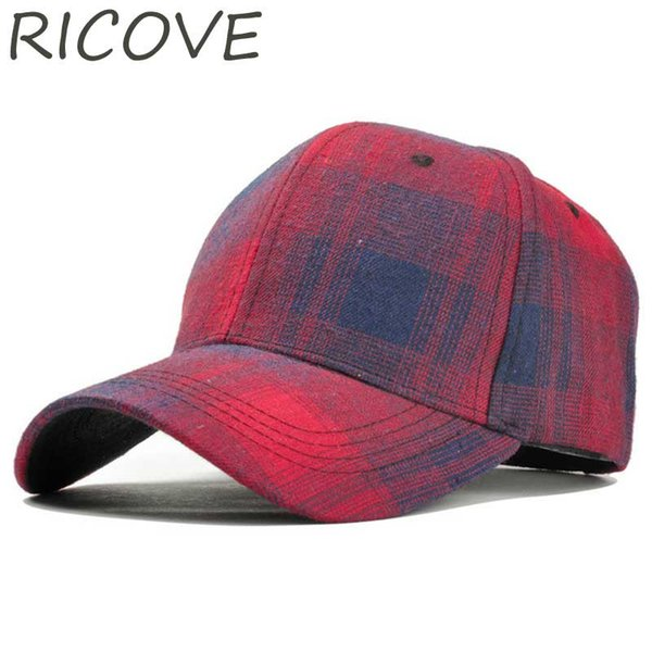 Women Baseball Cap Plaid Snapback Hat Men Retro Trucker Caps Summer Cotton Dad Hat Fashion Spring Vintage Sun Visor Black Hats
