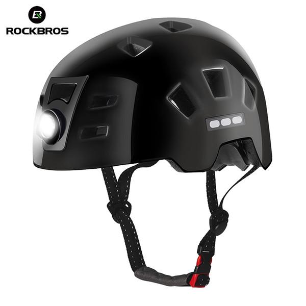 ROCKBROS Bike Headlamp Cycling Helmet Men Women Integrally-molded Bicycle Front Light Helmet Sports Safety MTB Bike Cap