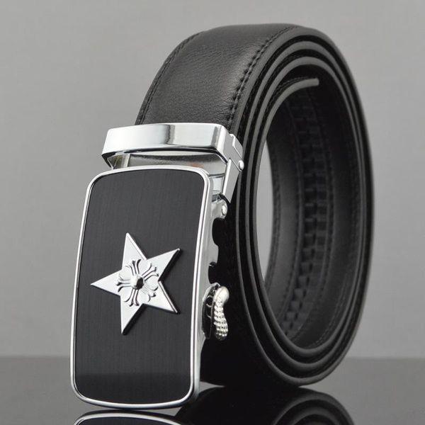 Men's Star Genuine Leather Belt New Designer Belts Men Luxury Strap Male Waistband Fashion Vintage Buckle Belt for Jeans