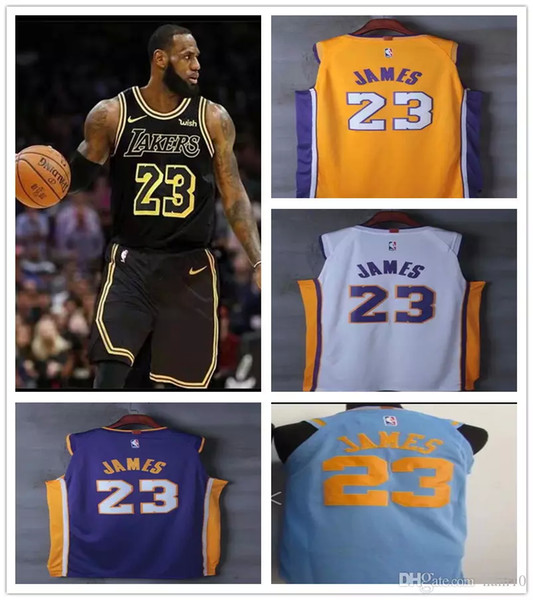 low priced 36fa3 4fc9d 2019 2018 2019 New Season Men Youth Kids 23 LeBron James Jersey Los Angeles  Lakers 77 Luka Doncic James 2 Ball 0 Kuzma The City Basketball Jersey From  ...