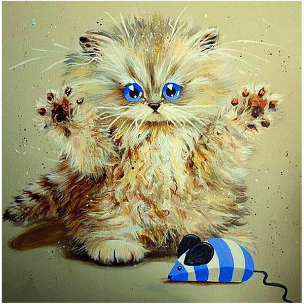 Cat Claw Mouse 5D DIY Diamond Painting Full Square Round Diamond Embroidery Inlay Art Fashion Crafts Gift Party Home Decoration