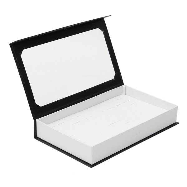72 Ring Jewellery Display Storage Box Tray Show Case Organiser Earring Holder, Ring Box With Cover