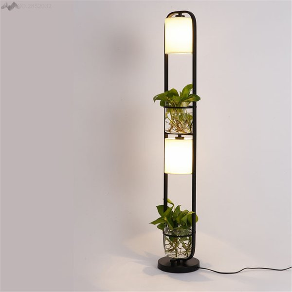 Modern Art Creative Plants Floor Lamp Plasscloth Standing Light for Living Room Office Cafe Restaurant Lanterns Lighting Decor