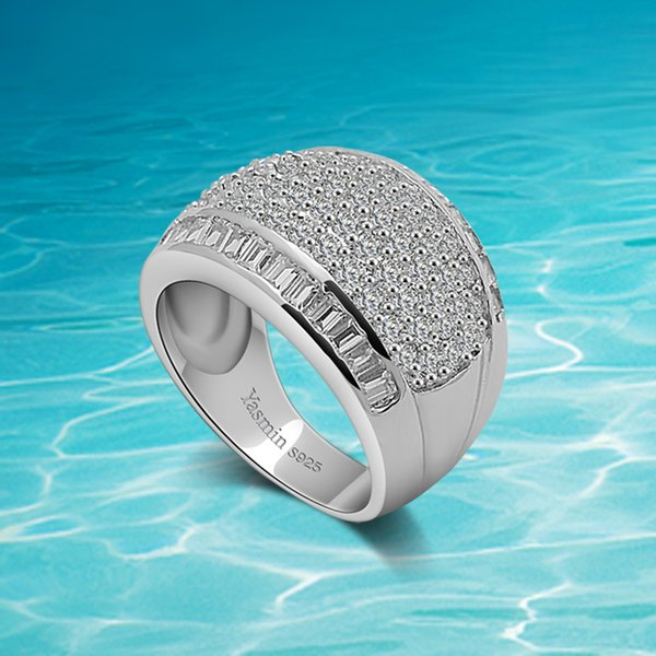 Europäische und amerikanische Mode breiten Ring. 925 Sterling Silber Ring für Frau. Setzen Sie Schnecke zurückhaltenden Luxus. Kostenloser Versand