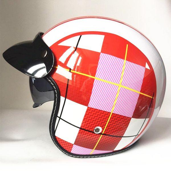 motorcycle helmet vespa vintage harley winter half helmet with inner visor jet retro capacete casque moto helmet DOT