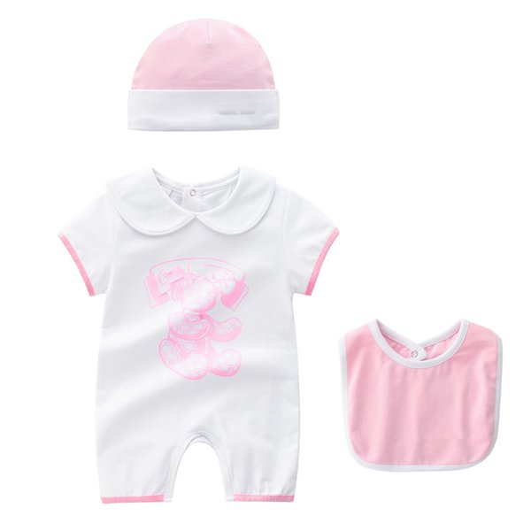 Baby Boys Girls Rompers Newborn Infant Striped sports suits 2018 New Kids short Sleeve jumpsuit climbing clothes for children 0-2T S38