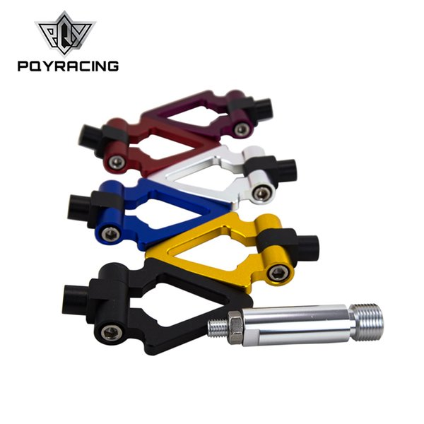 PQY RACING - Screw Aluminum CNC Triangle Ring Tow Towing Hook RACE For LEXUS ES 2006+ PQY013