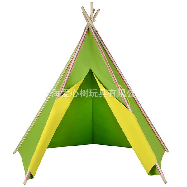 2016 new design teepee Log children green fabric tents room Photography props Baby toys play house Indoor and outdoor can play