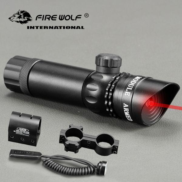 Adjuctatble Tactical Chasse Vert / Rouge Beam Laser Sight Avec Rail Mount 5mW Laser Emetteur pour fusil Gun Livraison gratuite