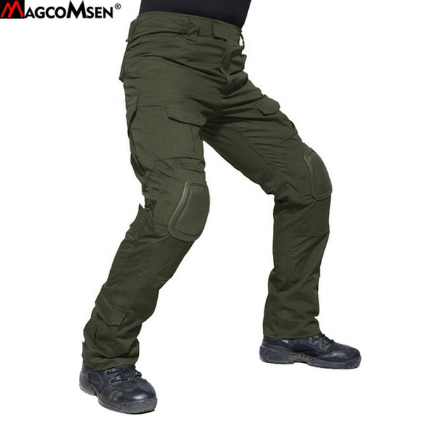 MAGCOMSEN Tactical Pants for Man Summer Durable US Army Combat Trousers With Knee Pads Camouflage Paintball Clothing