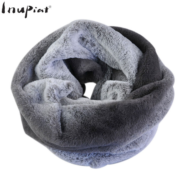 Scarves for Women 2018 Fashion Luxury Brand Infinite Ring Scarves Stoles Super Soft Healthy Fake Fur Scarf Cachecol Feminino