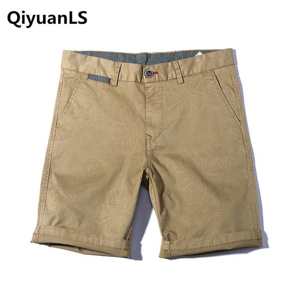 QiyuanLS New Shorts Uomo Estate Vendita calda Beach Shorts Homme Stile casual Cotone allentato Moda 2018 Marchio Abbigliamento Cargo