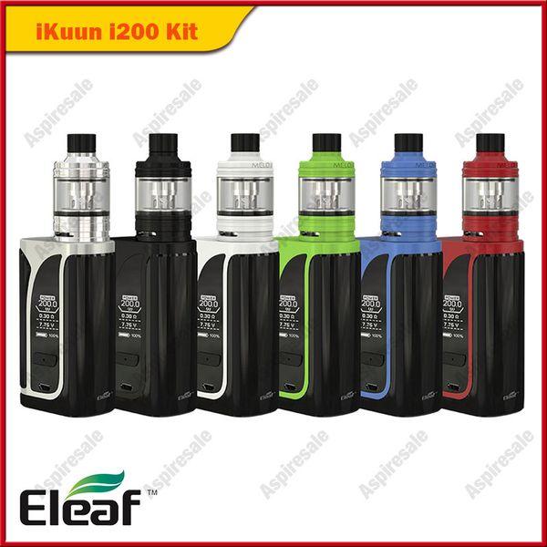Eleaf ikuun i200 Kit con 2ML / 4ML Eleaf Melo 4 D22 D25 Serbatoio incorporato 4600mAh Funzione di preriscaldamento batteria 100% originale