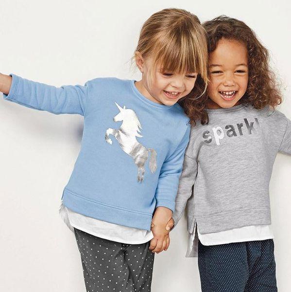 Kids Casual Sweater 2018 Autumn Baby Girls Cartoon Round Neck Sweater Children Long Sleeve Tops T-shirt clothes