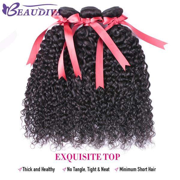 BEAUDIVA Hair Peruvian Kinky Curly Hair 3 Bundles Full Cuticle Aligned Curly Weave Human Hair Weaves Tangle Free