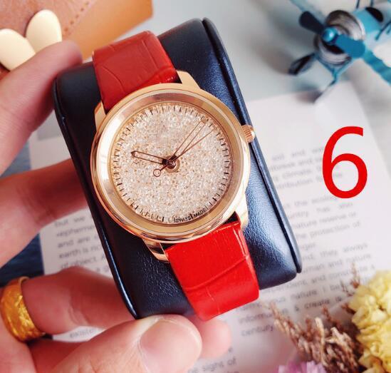 Mode homme montre Simple en cuir véritable casual garçon mode noir rouge blanc montre Étanche montre à quartz pour femme 6 couleurs drop shipping