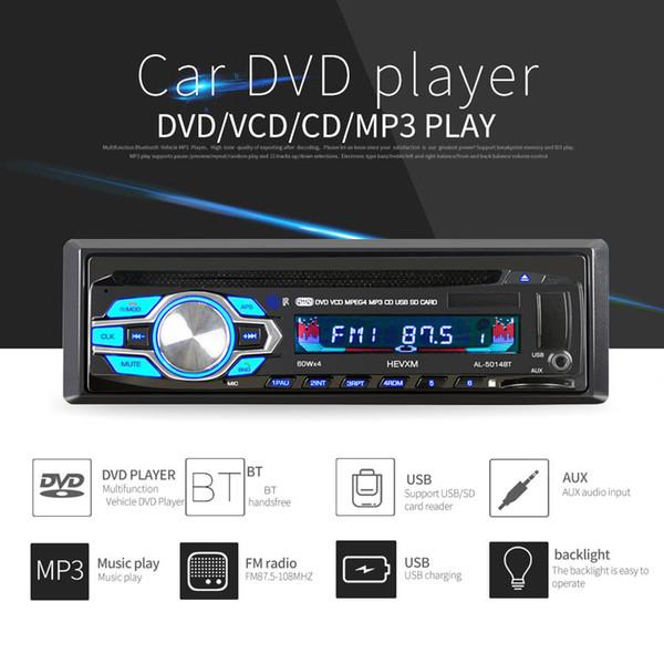 1 Din 12 V Araba DVD CD Çalar Araç MP3 Stereo Araba Handfree Autoradio BT Ses Radyo 5014BT Araba-styling Kablosuz Uzaktan Kumanda