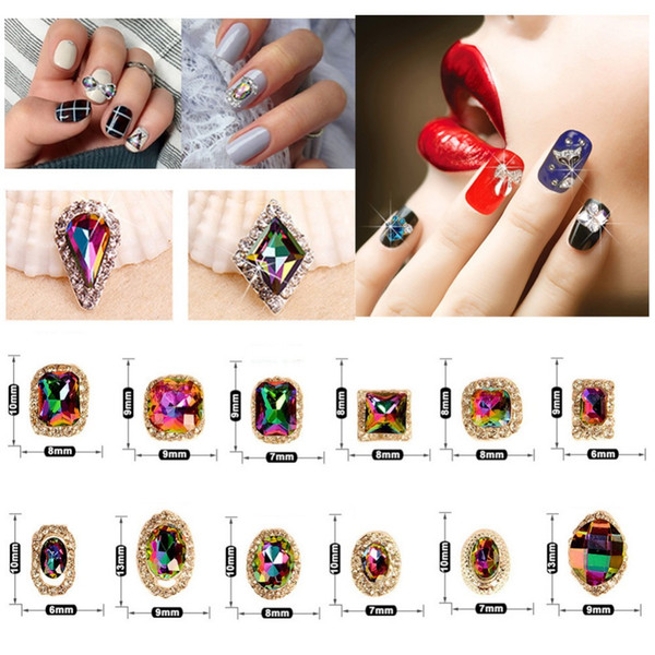 24 Style Crystal AB Nail Art Rhinestones Charms Gems Stones for Nails Decoration Crafts DIY Makeup for Clothes Shoes #276304