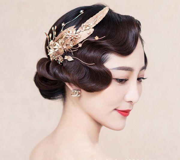 Bridal accessories, wedding dress, accessories, gold leaves, handmade headwear, makeup, photo studio wedding