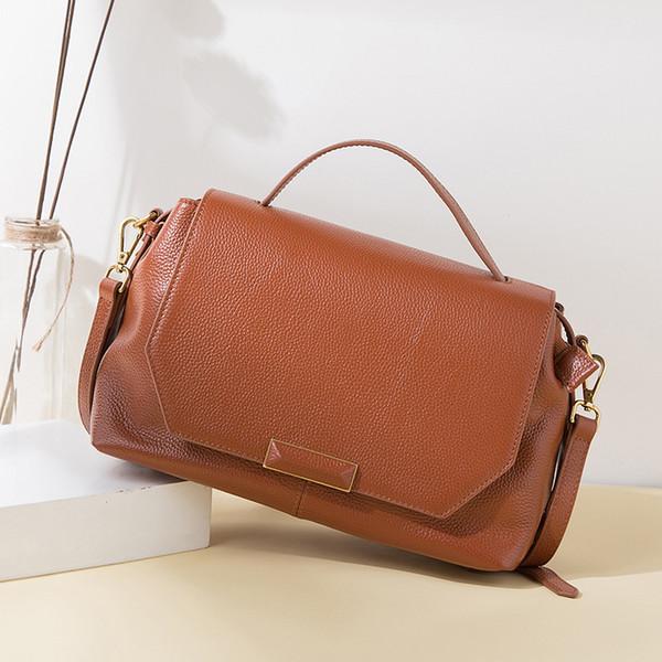 Europe and America Brand Designer Handbags For Women Fashion Messenger Bags Genuine Leather Lady Cross Body Bag Wholesale
