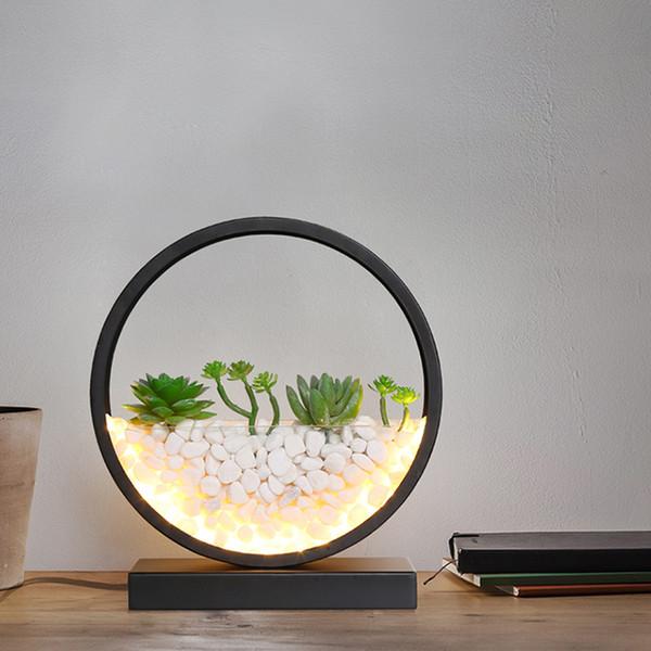 2019 Bedroom Bedside Led Desk Lamps Simple Office Work Led Table Lamp  Modern Living Room Study Table Lamp Circular Gift Led Lighting From  Lvzhilamp, ...